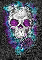 Full Drill Butterfly Skull 5D Diamond Painting Cross Stitch Embroidery Decor Kit