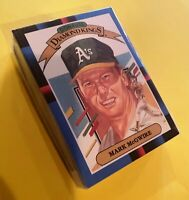 50) MARK McGWIRE Oakland A's 1988 Donruss Diamond Kings Baseball LOT Card #DK1