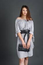 Cintura FUSCIACCA Donna nera interno scamosciato VERA PELLE Made in Italy