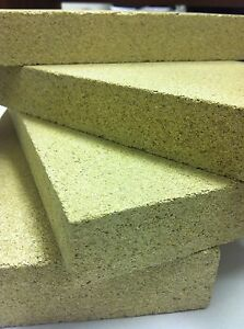 """Replacement Fire bricks   9"""" x 4.5""""x 1"""" for wood burning stoves  Vermiculite"""