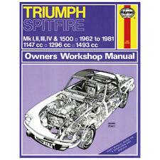 Haynes Triumph Spitfire MK1 MK2 MK3 MK4 & 1500 Workshop manual MGL6214X
