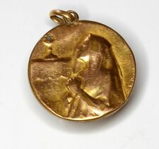 1911 GOLD FIX 18K FIRST COMMUNION SOUVENIR FRENCH MEDAL. VISIT MY COLLECTION
