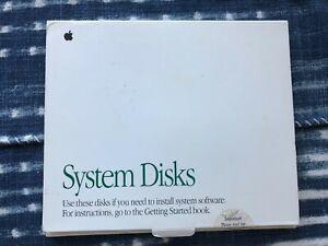 Apple Macintosh System 7.1 software original floppy disks LC III