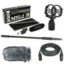 Rode NTG-2 Boom Kit with Deadcat, SM4, 20' XLR Cable & Boom Pole