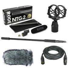 Rode NTG-2 Boom Kit with Deadcat, SM4, 20' XLR Cable & Micro Boom Pole