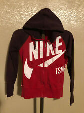red zip up NIKE SPORTSWEAR hoodie sweatshirt size medium