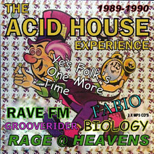 RAVE  ACID HOUSE 2 DISC MP3 CD SET THE EXPERIENCE 1989-90