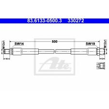 ATE Original Bremsschlauch, Bremsleitung Mercedes-Benz 83.6133-0500.3