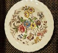 "Vintage Vernon Kilns Calif USA Mayflower (4) Pottery Saucers Hand Painted 6"""