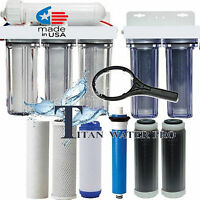 Reverse Osmosis RO/DI Water Filter 6 Stages (2 Stages DI) Clear Housings-150 GPD