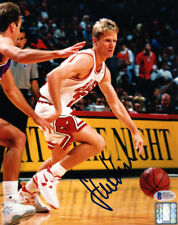 STEVE KERR SIGNED AUTOGRAPHED 8x10 PHOTO CHICAGO BULLS LEGEND BECKETT BAS