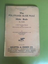 K&E Polyphase Slide Rule manual, No N4053  book only 83 pages 1938