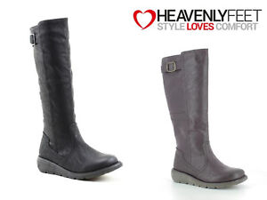 Ladies Tall Boots Long Zip Up Winter Warm Heavenly Feet 'Saturn 2' Sizes 3-8