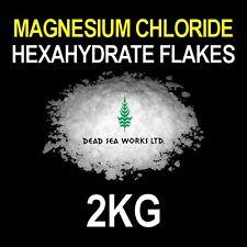 2kg-cloruro de magnesio hexahidrato Escama 47% Sales del Mar Muerto Acuario libre de envío