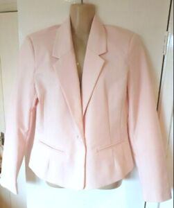MADEMOISELLE R PINK FITTED JACKET SIZE 12 UK (EU 40) NWOT