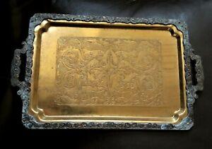 Antique Engraved Plate TRAY Armenian Handmade
