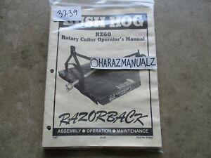 BUSH HOG RZ60 Rotary Cutter Operator's Assemply Manitenance Manual