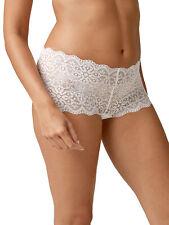 Next size 8 NO VPL floral lace low rise knicker shorts panties White