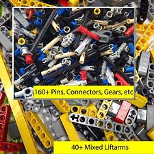 Lego Technic 200+ Mixed Liftarms, Bushes, Pins, Axles, Connectors, Gears, parts