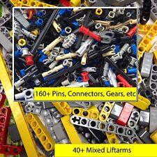 Lego Technic 200+ Mixed Liftarms, Bushes, Pins, Axles, Connectors, Gears, parts