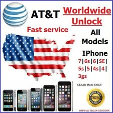 UNLOCK SERVICE CODE AT&T FOR IPHONE 8 7 SE 6S 6 5S 5C 5 4S 4 WORLDWIDE UNLOCK