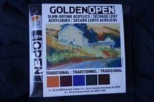 Golden Open 6 tubes - 22ml Acrylic Paints Slow-drying