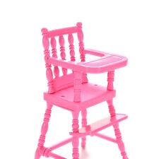 1x Mini Puppe Hochstuhl Kunststoff Fütterung Stuhl für Barbie-Puppe Zubehör