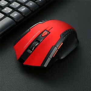 Wireless Mouse 2.4GHz 2000 DPI Gaming PC Laptop Computer Mice Optical USB RED
