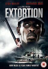 EXTORTION di Phil Volken con Eion Bailey Barkhad Abdi DVD in Inglese NEW .cp