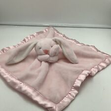Carters Pink Bunny Rabbit Security Lovey Baby Blanket 2016 Satin Trim