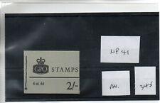 GB - Stamp Booklet - (345)  2/-d Booklet - NP41 - Average  perfs