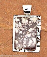 Huge Crazy- Wild Horse Stone 925 Sterling Silver Southwestern Pendant Necklace