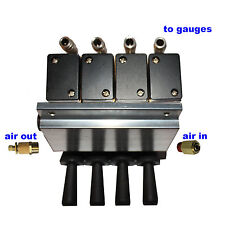 4 3-Position Air Valves up/down/return to center, manifold & Fittings