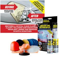 E-Tech Car Headlight Headlamp Restoration Kit Repairs Dull Lenses Restorer Lens