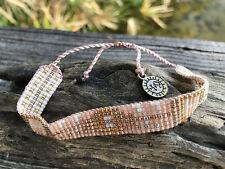 Pink Gypsy Boho Bracelet - seed bead surfer hippie vegan pura vida handmade