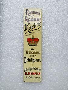 Blechschild Renners Magenbitter Türschild Hof i. Bayern um 1910 kein Emailschild