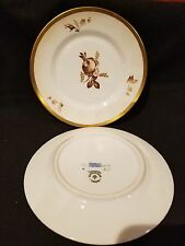 "Royal Copenhagen #688 Brown Rose Bread & Butter Plate (6 1/4"")"
