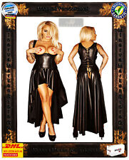 langes Wetlook Kleid F069 Noir Handmade Wetlook-Material Swinger Clubwear Szene