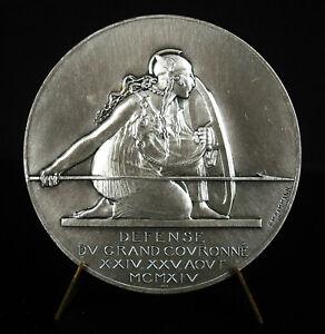 Médaille femme guerrière gauloise casquée PM Dammann détente du Grand Couronné