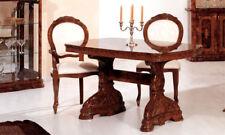 Esstisch fest nicht ausziehbar oval in Braun Hochglanz bis 8 Personen Stilmöbel