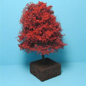 "Dollhouse Miniature Beautiful Outdoor 5"" Maroon Japanese Maple Landscape Tree"