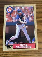 (100) 1987 Topps Ryne Sandberg NM+ #680 Chicago Cubs HOF Lot