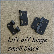 pair small lift off hinges for rack cases etc. -black
