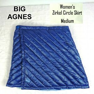 Big Agnes Zirkel Circle Skirt Wrap-Around Quilted Down Blue Womens Size MEDIUM