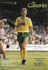 Football Programme>NORWICH CITY v DERBY COUNTY Sept 1990