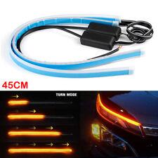 2Pcs 45CM Dual Colour Flexible LED Strip Light Ultrafine Flow Turn Signal Kit