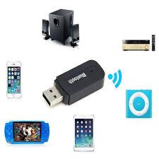 Câble Jack 3.5mm Stéréo Audio Adaptateur USB Bluetooth Sans fils Noir 55*20*10mm