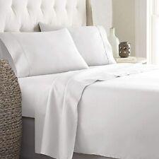 Premium 600 TC Egyptian Cotton Bed Sheet Set 4 Piece, White
