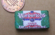 1:12 Scale Warburtons Sliced Loaf Wrapper Dolls House Kitchen Bread Accessory WG