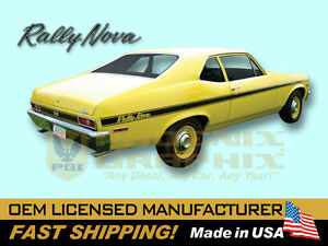 1971 1972 Chevrolet Rally Nova Decals Stripes Graphics Kit
